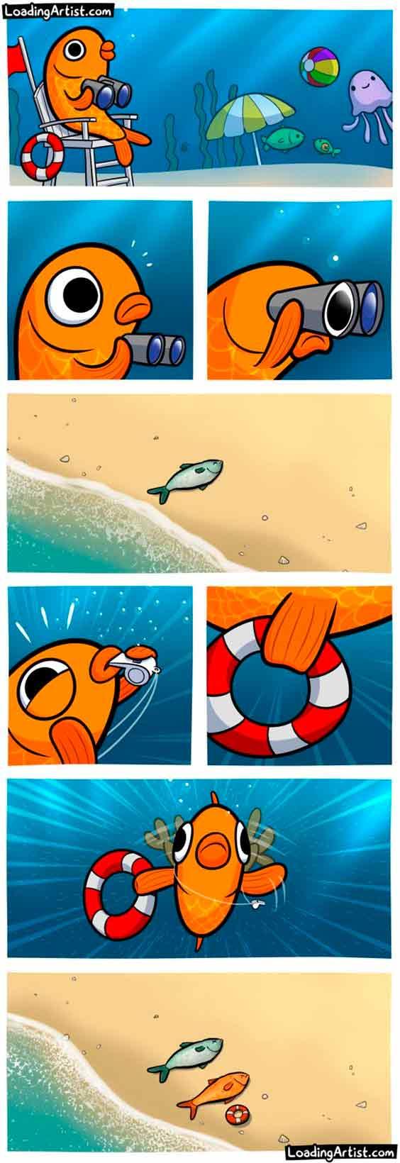 historietas de animales del agua