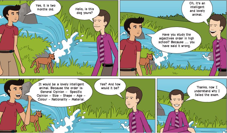 comics cortos en ingles
