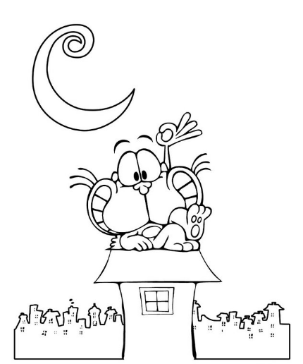 historietas de gaturro en blanco y negro
