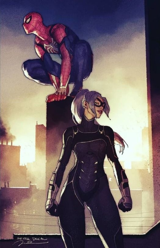 black cat spiderman