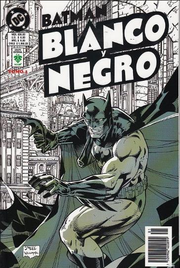 historietas de batman en blanco y negro