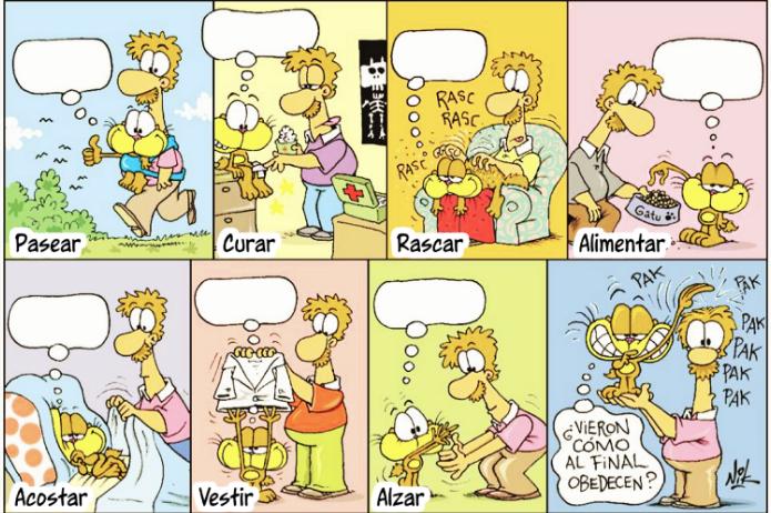 historietas de gaturro para completar