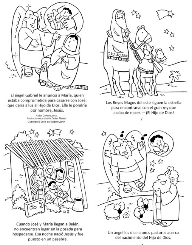 historietas de navidad para colorear