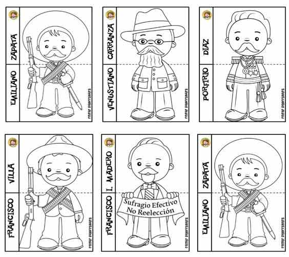 personajes principales de la revolucion mexicana