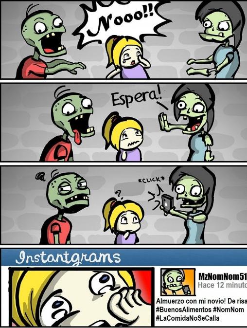 tiras comicas de zombies
