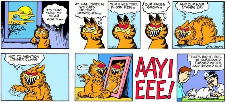garfield en halloween
