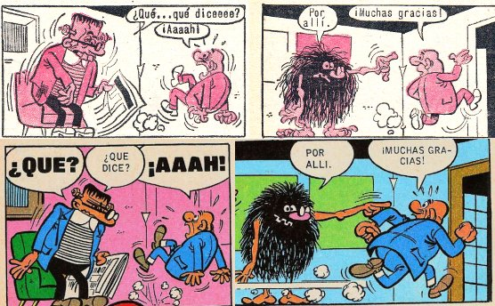 historietas con onomatopeyas cortas