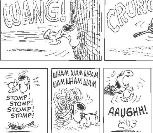 historietas de snoopy con onomatopeyas