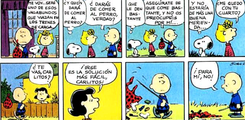 historietas de snoopy a color