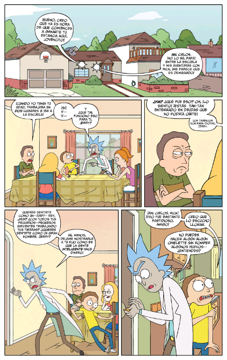 comics de rick y morty en español