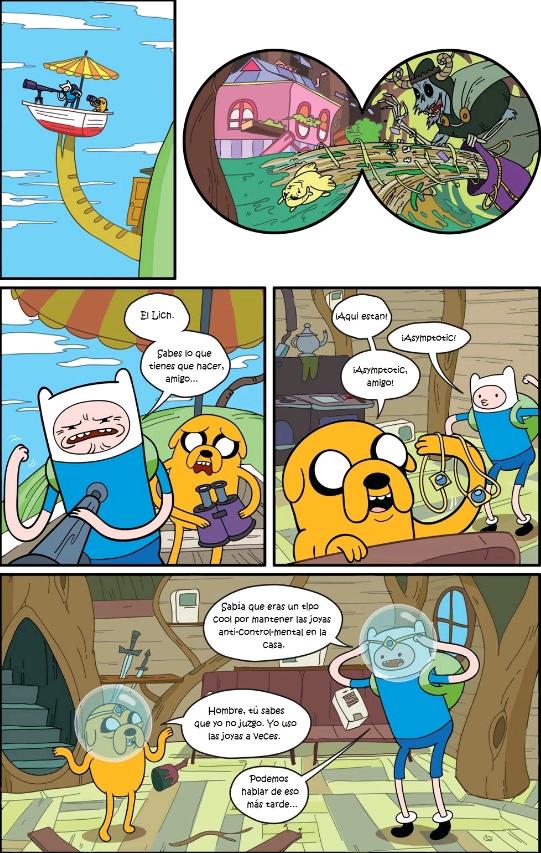 comic de hora de aventura temporada 1