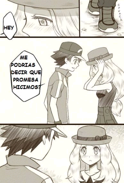 comics de pokemon ash y serena