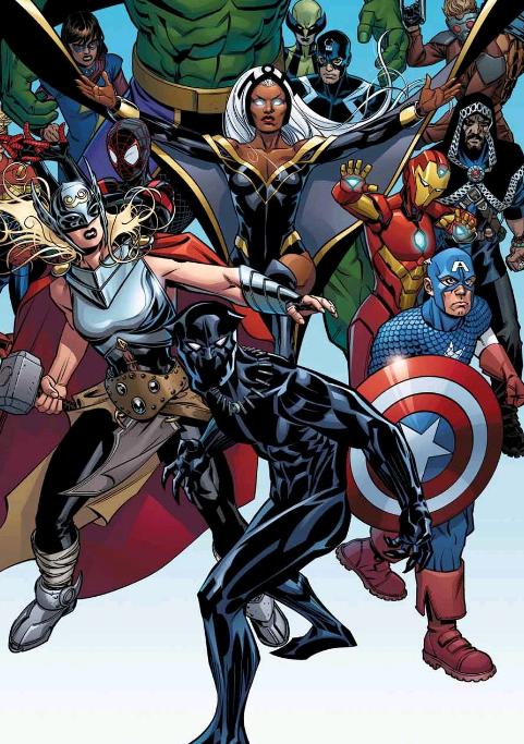 historietas de Pantera Negra y los Avengers