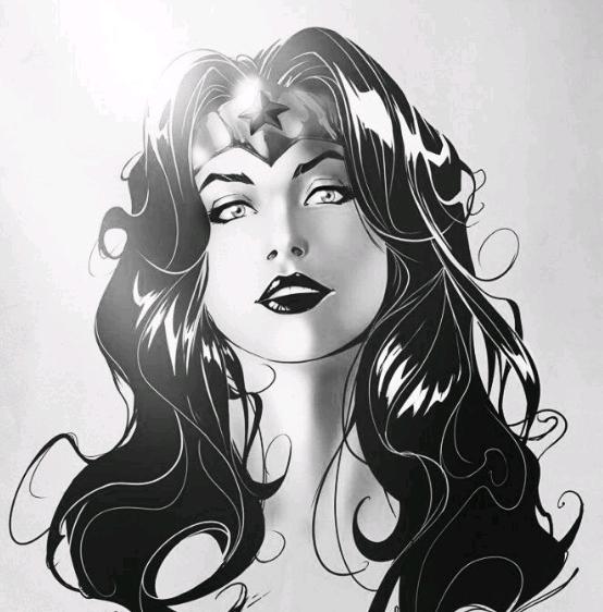 comics de la mujer maravilla blanco y negro